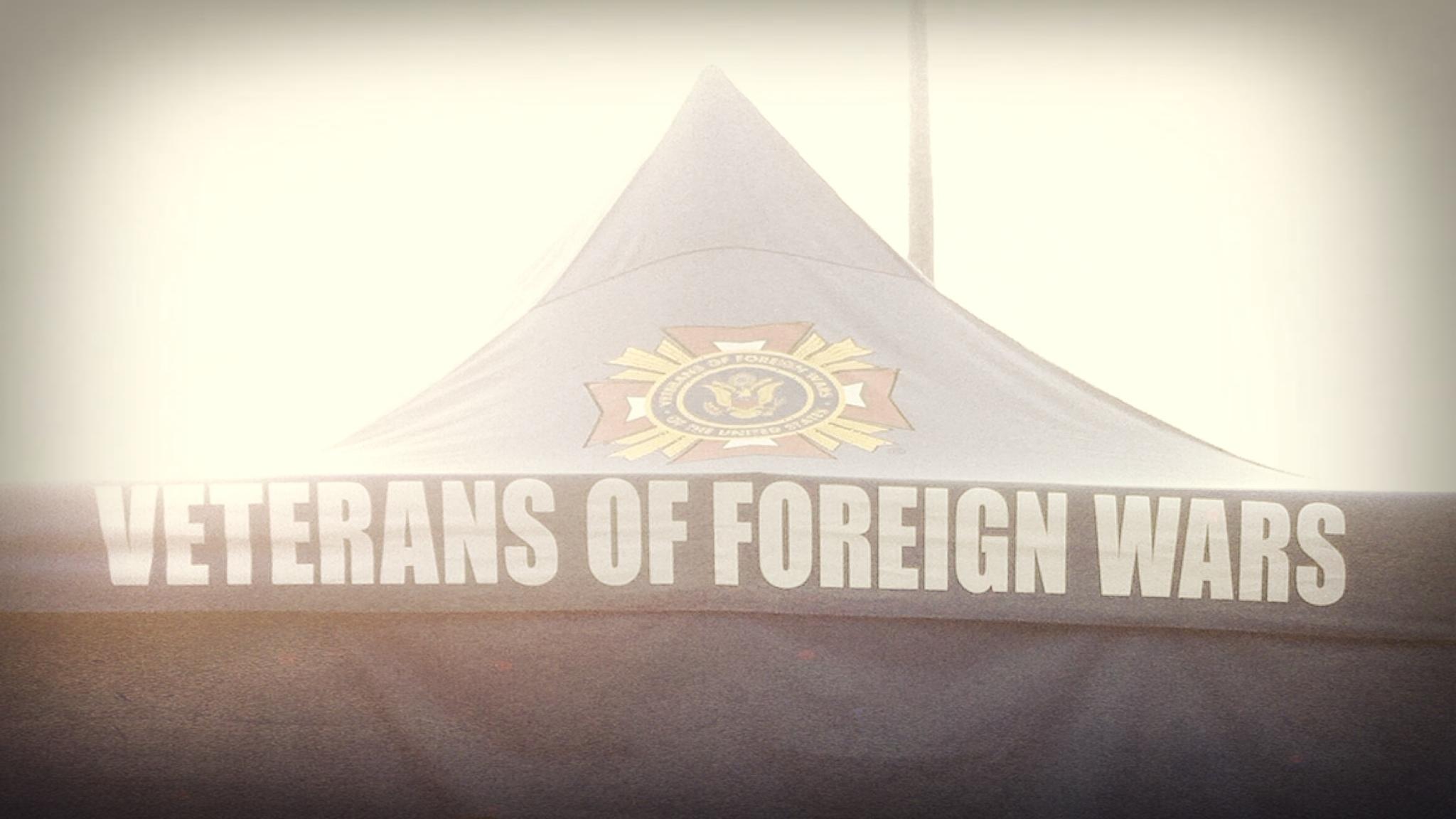 Veterans' tent.
